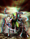 Wolverine and the X-Men in 3D Anaglyph