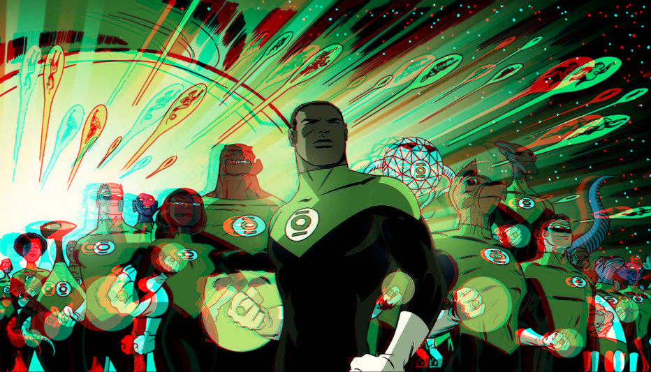 green_lantern_corps_in_3d_anaglyph_2_by_xmancyclops-d89yu0x dans 3D