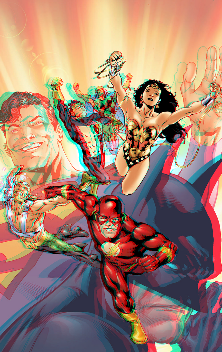 jla_by_bryan_hitch_in_3d_anaglyph_by_xmancyclops-d8nglo7 dans 3D