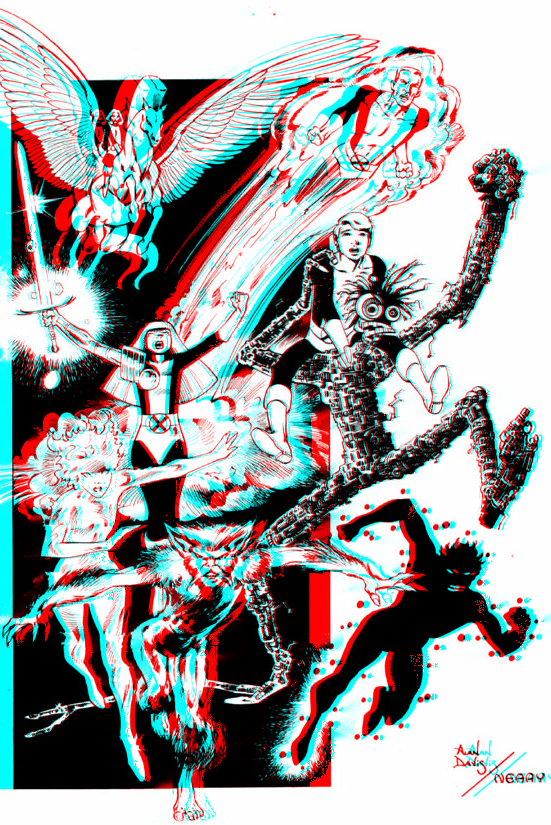 new_mutants_by_alan_davis_in_3d_anaglyph_by_xmancyclops-d8x9mzv dans 3D