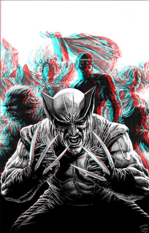 X-Men by Lee Bermejo in 3D Anaglyph by xmancyclops