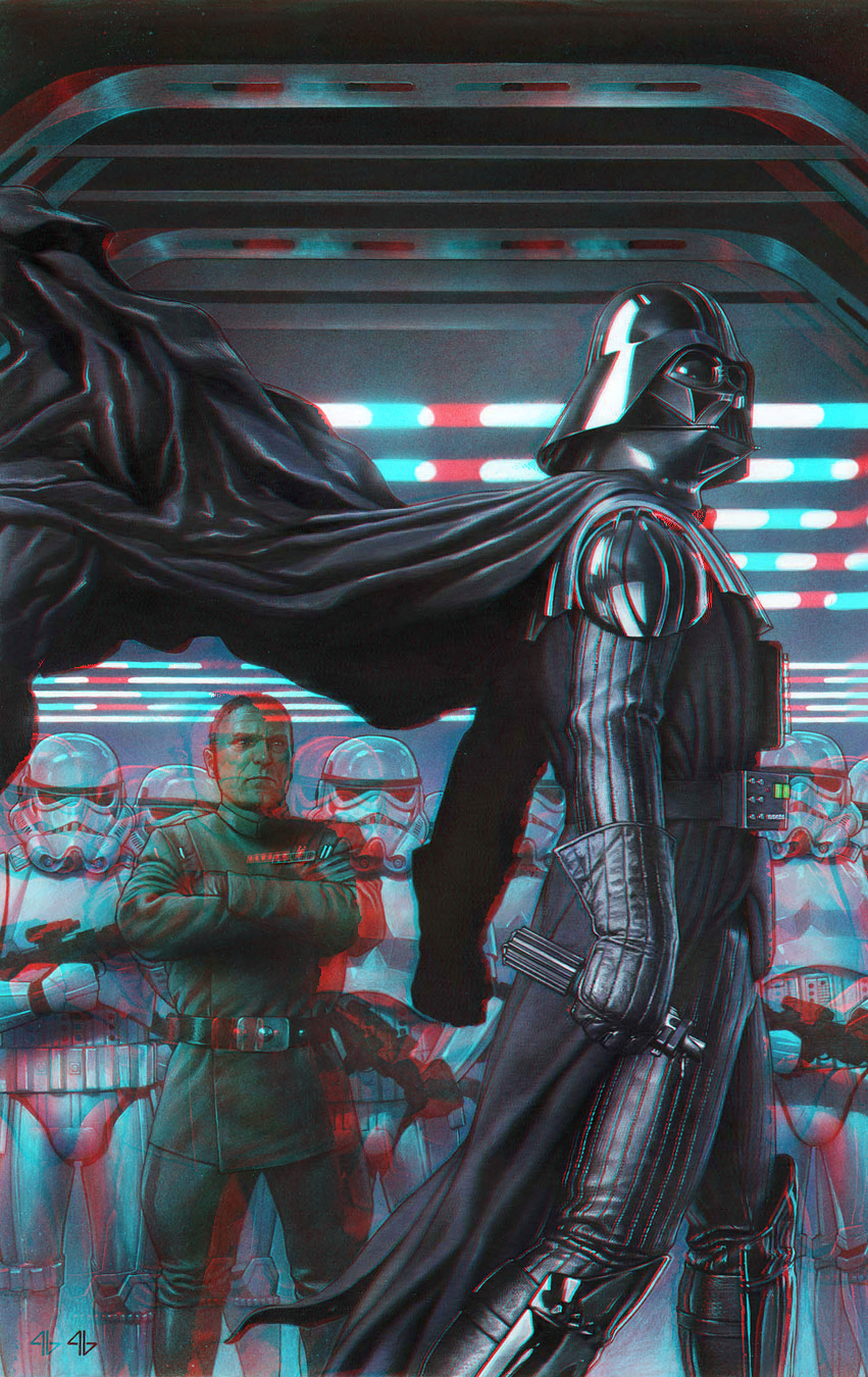 Darth Vader in 3D Anaglyph by xmancyclops