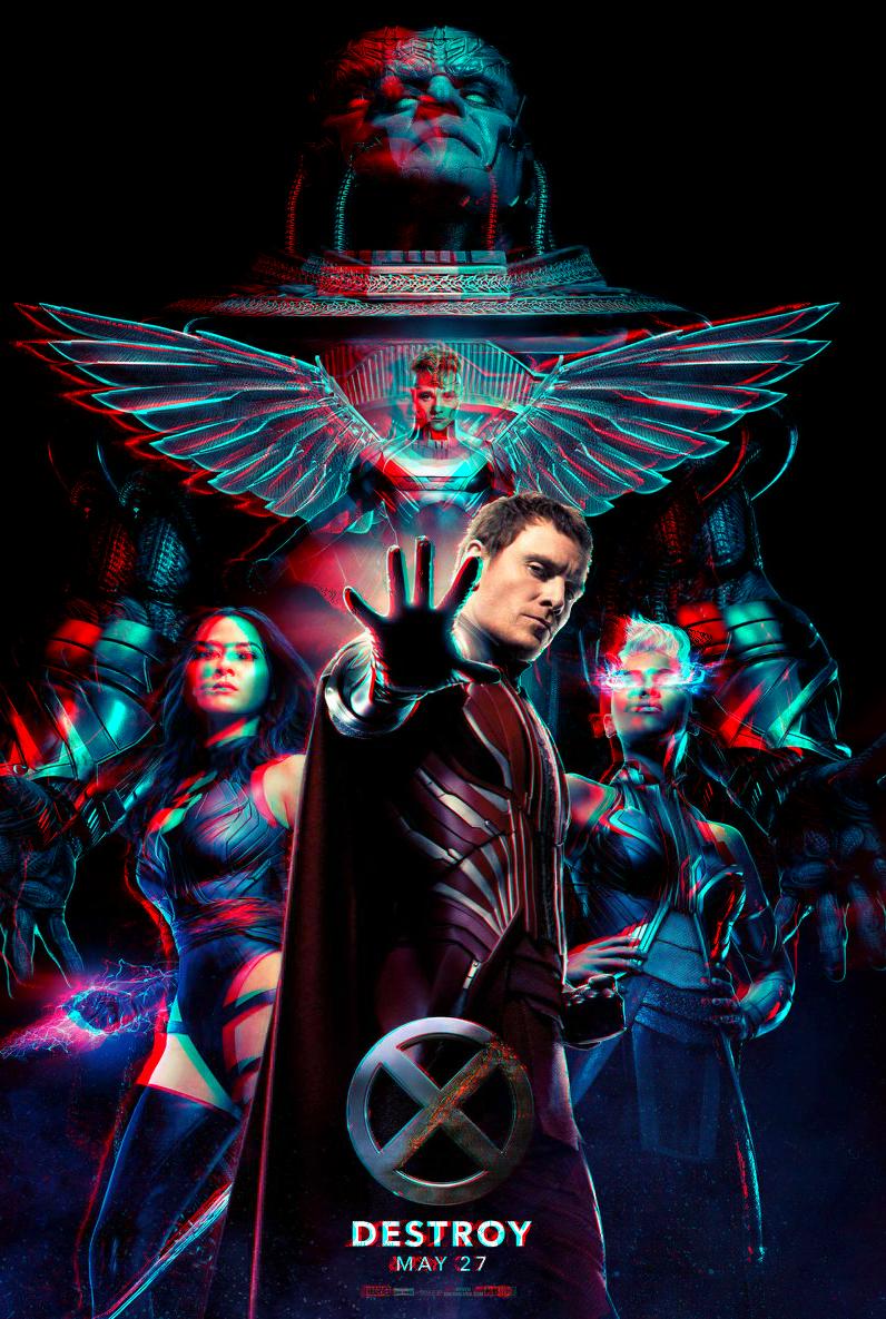 X-Men Apocalypse : Horsemen in 3D Anaglyph by xmancyclops