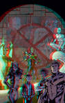 All-New X-Men by Mark Bagley in 3D Anaglyph by xmancyclops