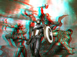 MCU Avengers by Adi Granov in 3D Anaglyph