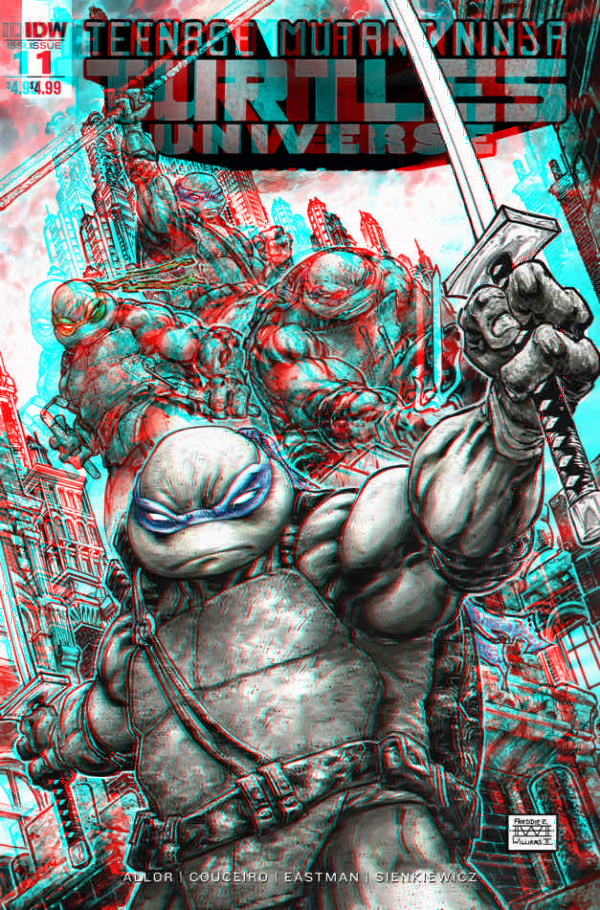 TMNT Universe in 3D Anaglyph by xmancyclops