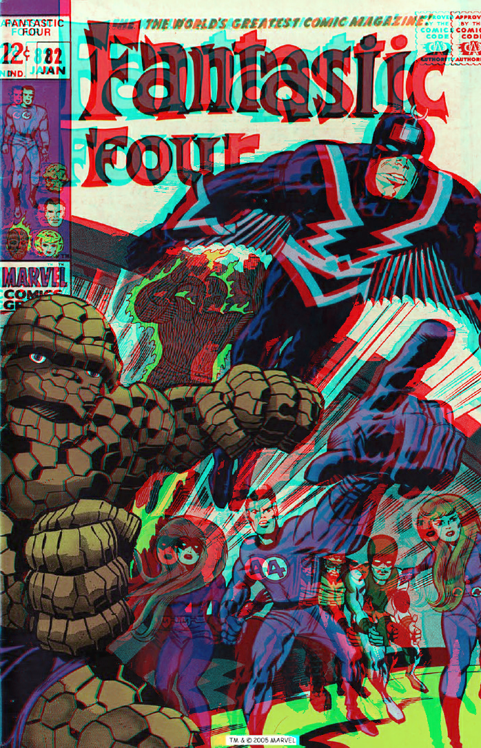 The Fantastic Four and The Inhumans in 3D by xmancyclops