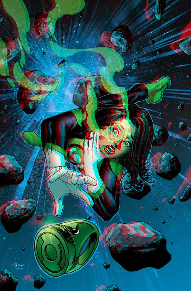 Green Lantern Jessica Cruz in 3D Anaglyph by xmancyclops