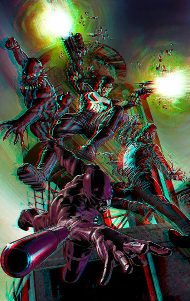 Marvel Knights by Mike Deodato Jr in 3D Anaglyph by xmancyclops