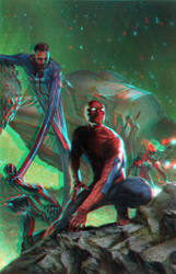 Secret Wars by Gabriele Dell'Otto in 3D Anaglyph by xmancyclops