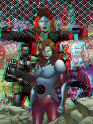 X-Men Red by R.B. Silva in 3D Anaglyph by xmancyclops