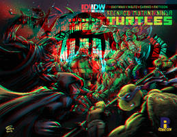 Tmnt vs the Foot Clan in 3D Anaglyph
