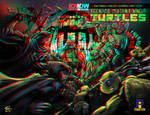 Tmnt vs the Foot Clan in 3D Anaglyph by xmancyclops