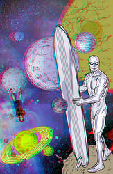 The Silver Surfer by Mike Allred in 3D Anaglyph