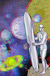 The Silver Surfer by Mike Allred in 3D Anaglyph by xmancyclops