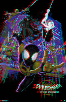 Spider-Man Into the Spider-Verse in 3D Anaglyph