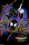 Spider-Man Into the Spider-Verse in 3D Anaglyph by xmancyclops