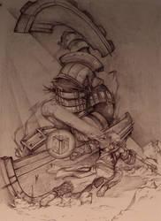 The Dark Colossus Destroys All by Keiteki