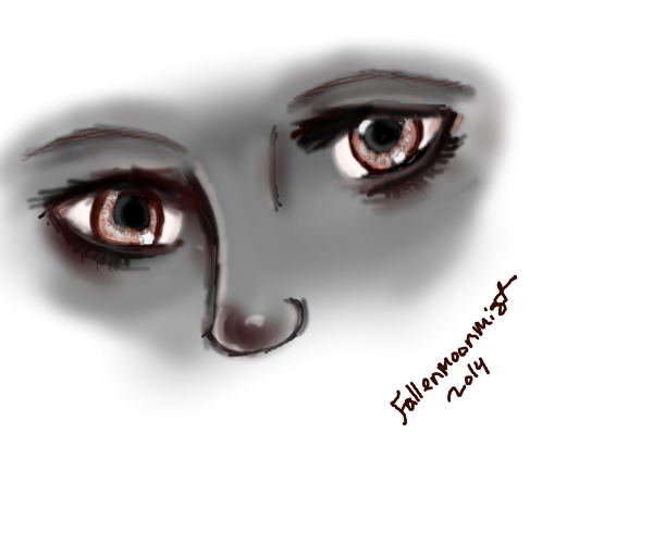 Eyes And Nose by fallenmoonmist
