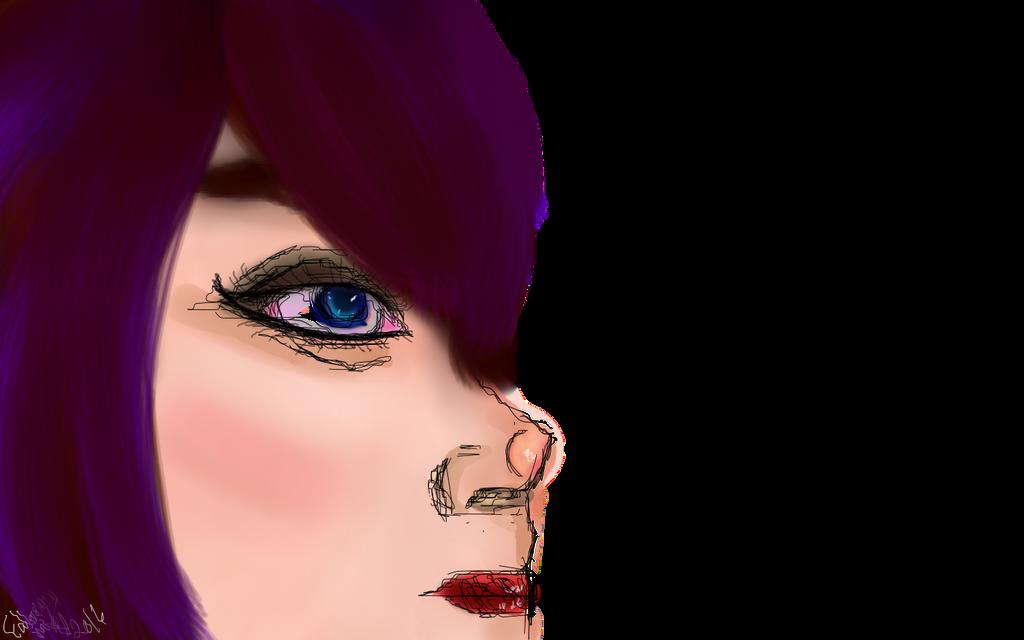 Side Face by fallenmoonmist