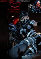 JASON TODDXCASSANDRA CAIN (Red HoodxBlack Bat) by assassinxgods