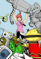 Pepper Potts Robot Fighter by keichishoshuko