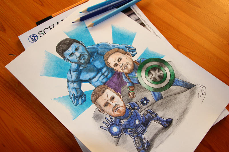 Schalke superheroes by S04-Joker