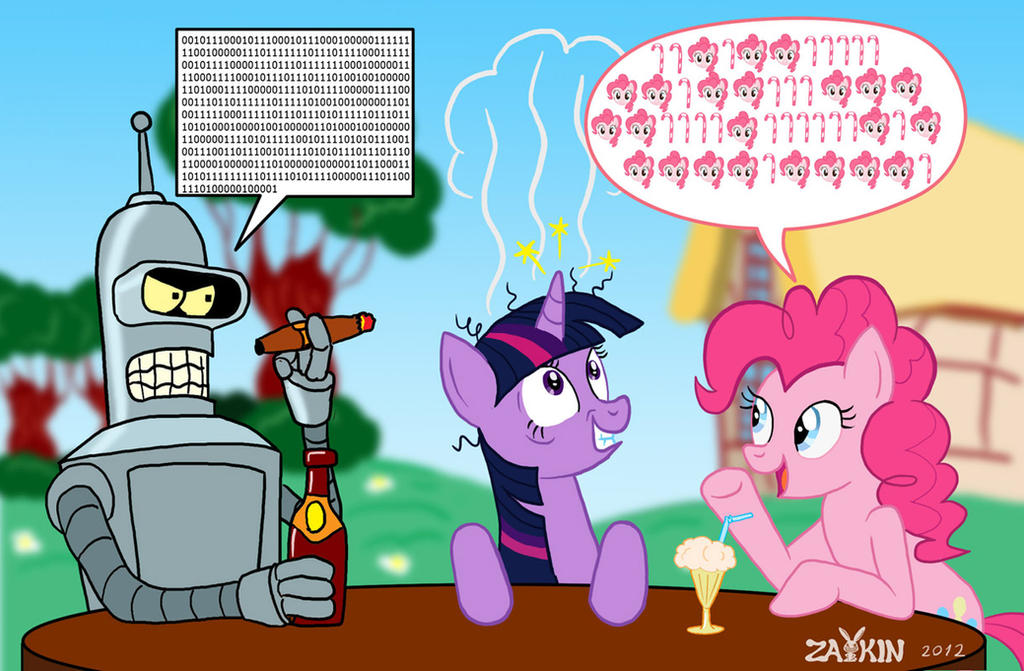 Pinkie n Bender. Digital conversation