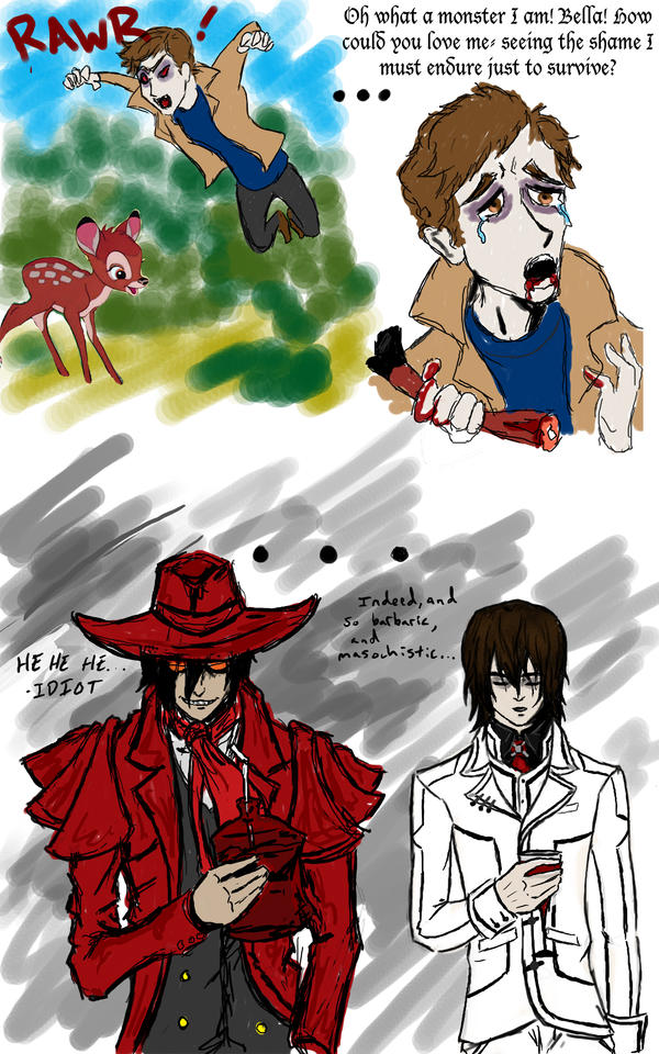 Alucard and Kaname laugh by DevilWillPay10