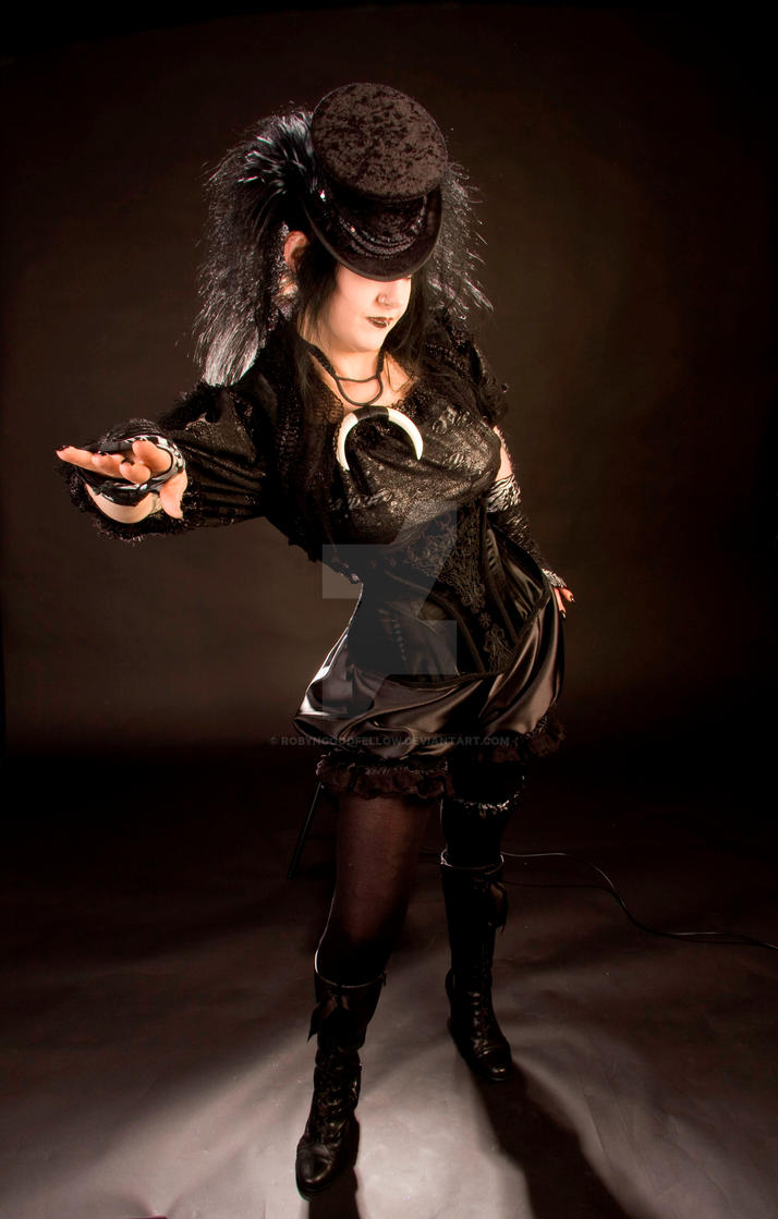 Gothic steampunk Corset by RobynGoodfellow