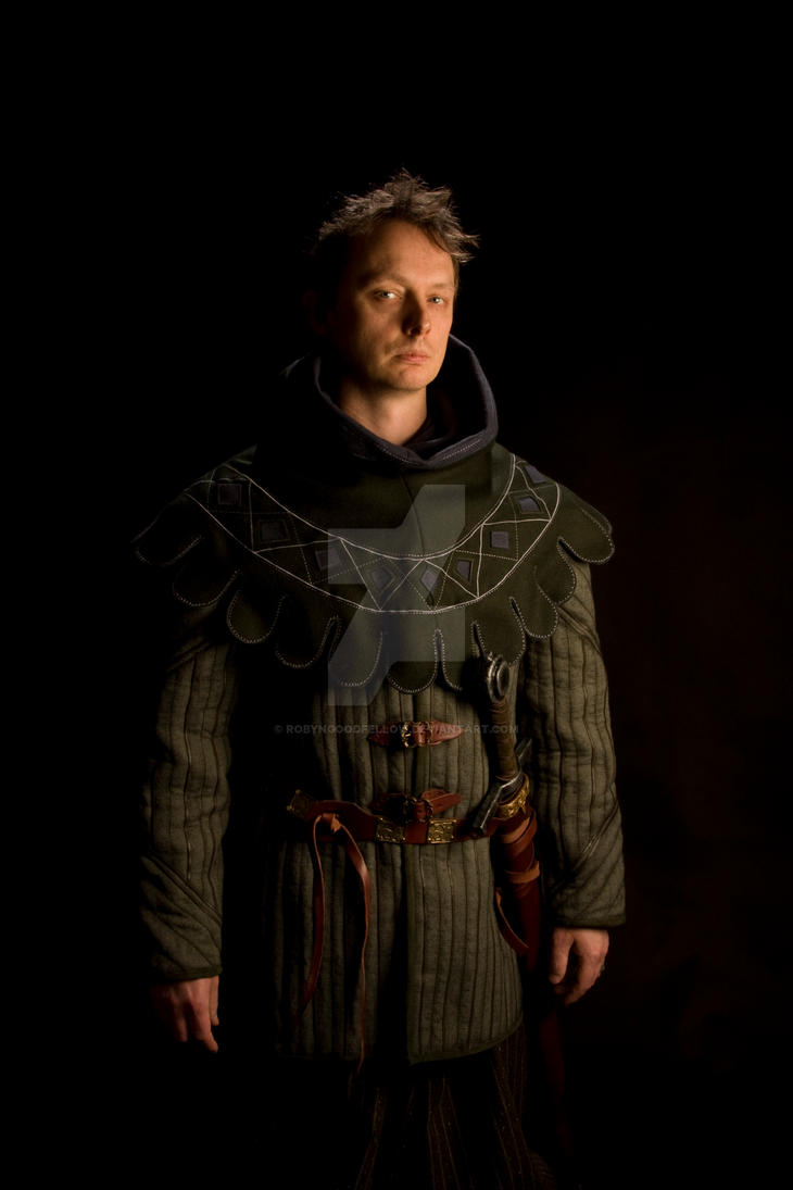 Dagged hood and Gambeson by RobynGoodfellow