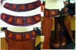 Fairy Belt Draft Mockup side Leather amrour armor