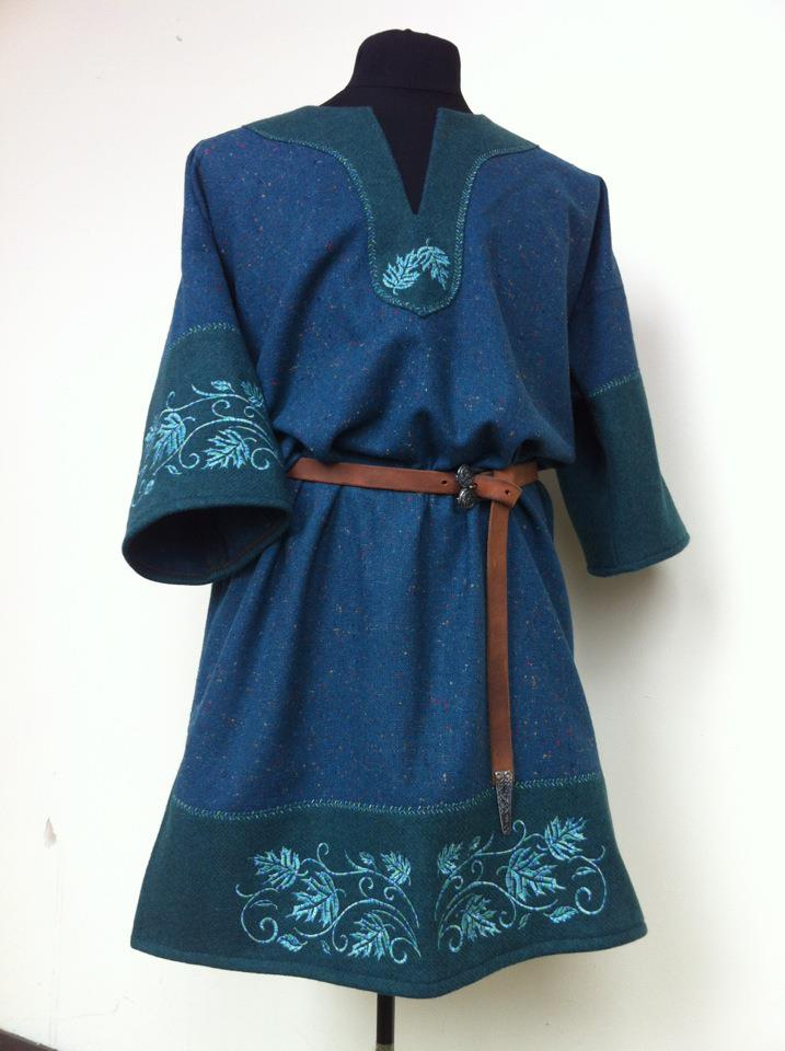 Fae fairy Celtic Tunic blue by RobynGoodfellow