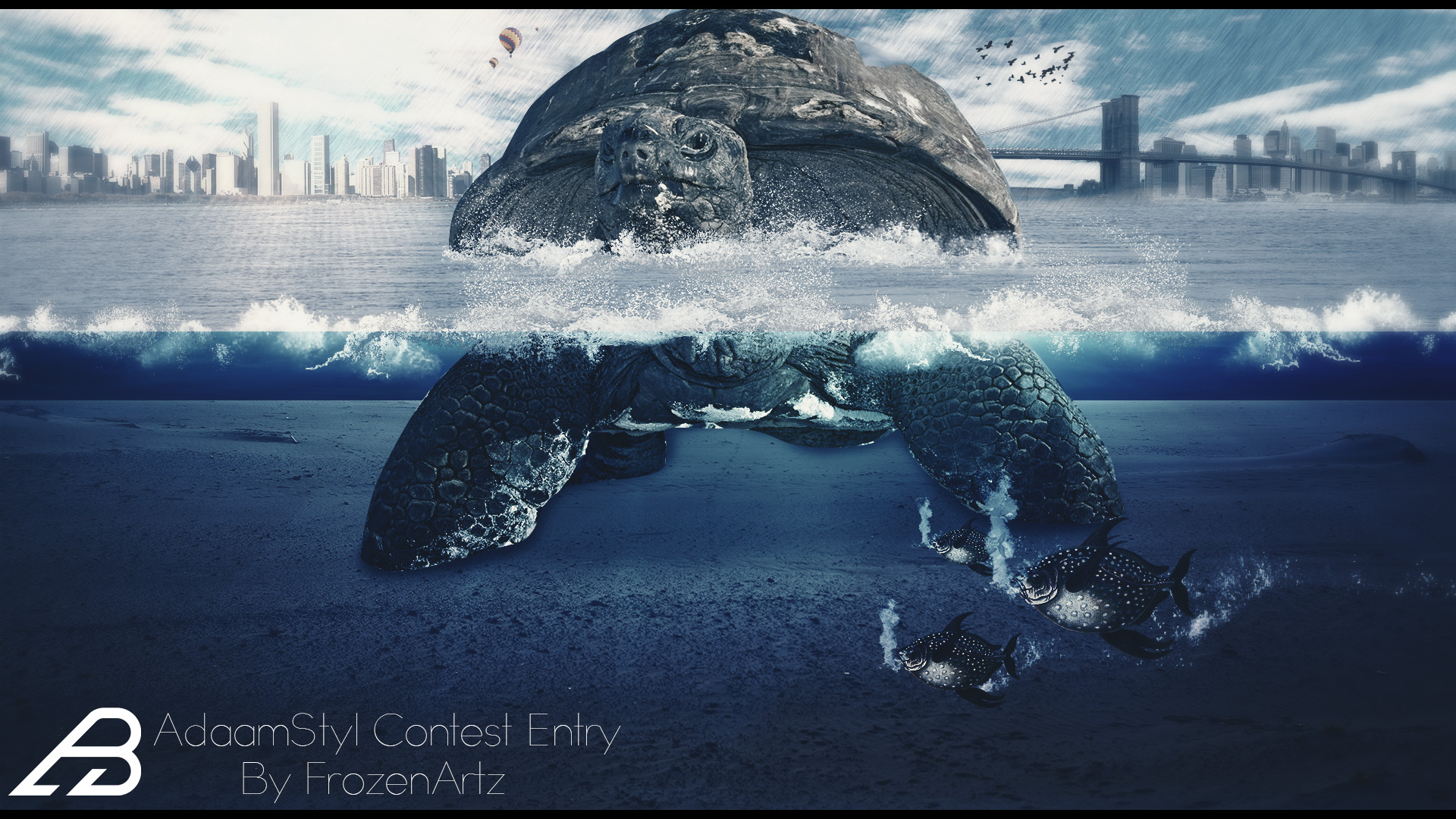 The Big Turtle! AdaamStyl Contest Entry by xFrozenArtz