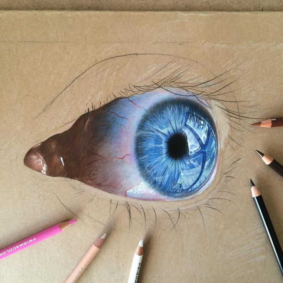 Color drawing pencil eye in progress .. by ErenLACIN on ...