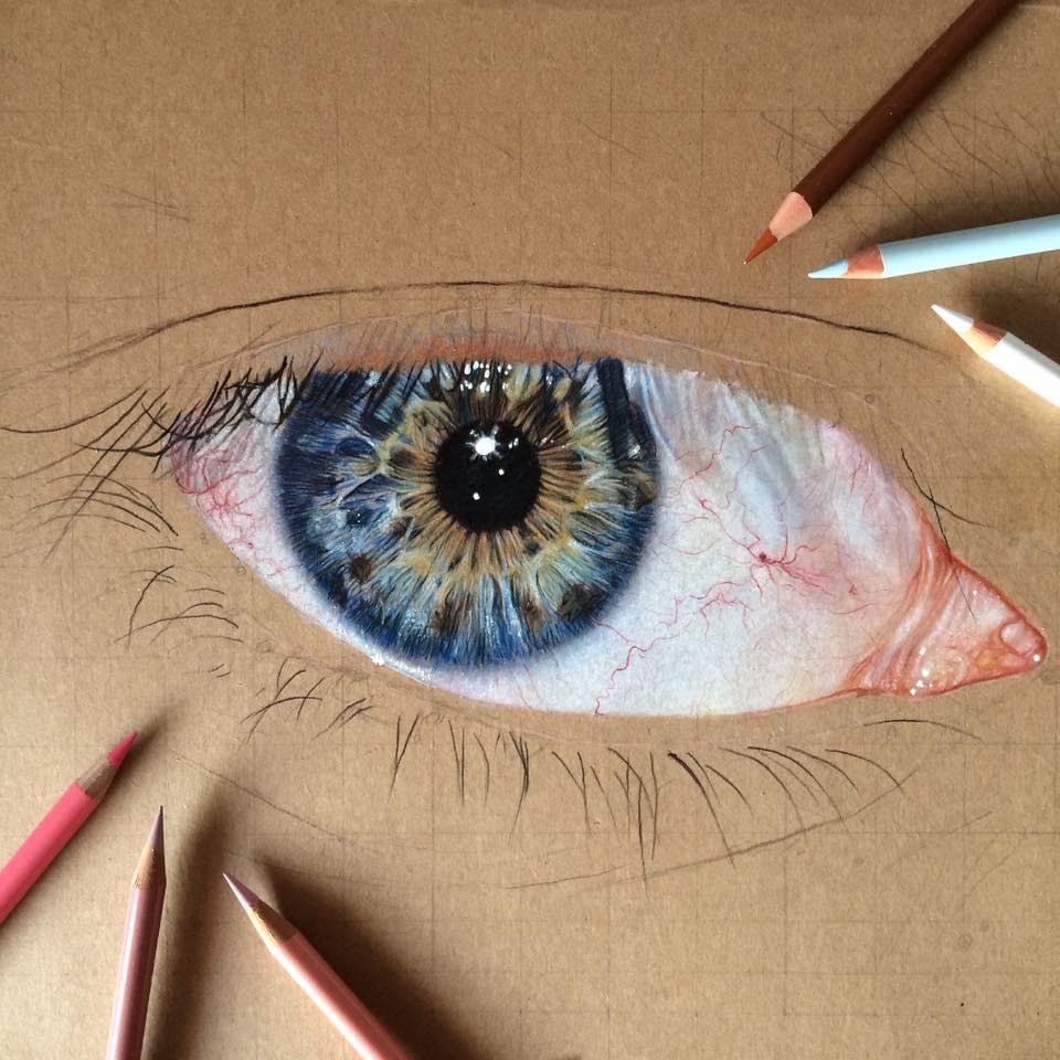 Color drawing pencil eye by erenlacin