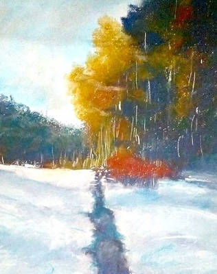 Snow and trees painting 2019 by foqiazafar