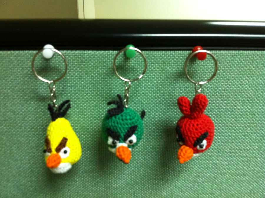angry birds keychain by handfree