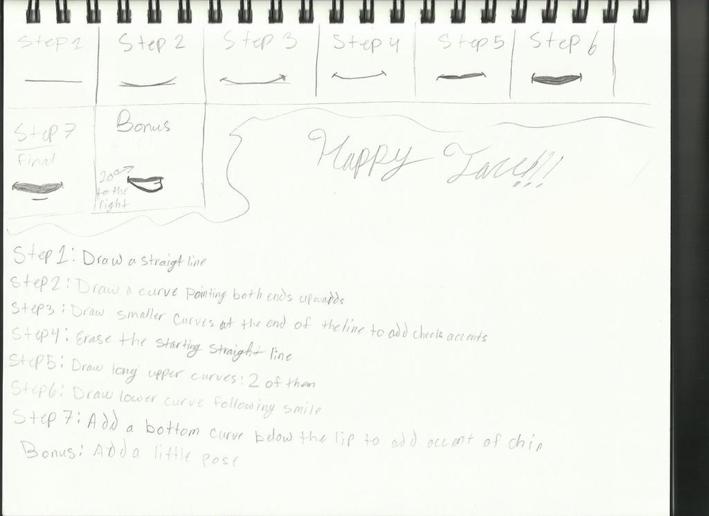 Happy face sketch 001 by UnleashaWinterStorm