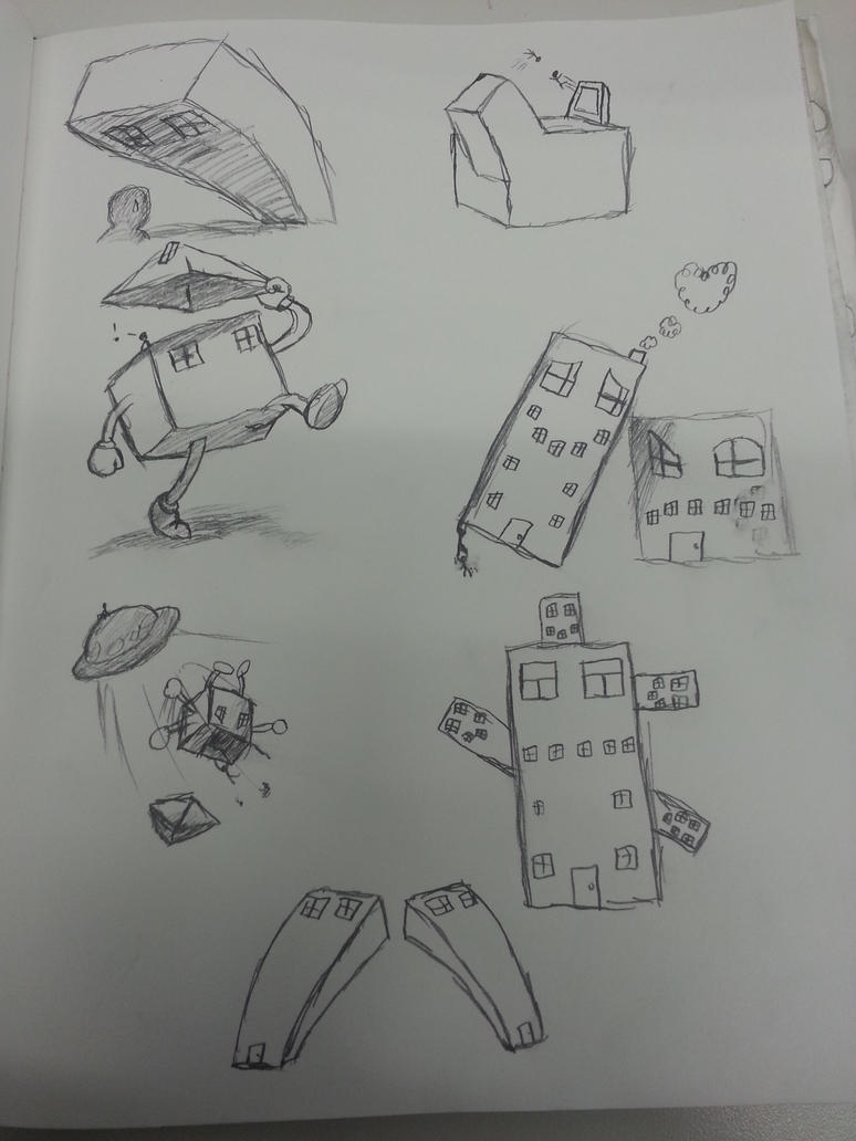 House sketches by SlightPlus