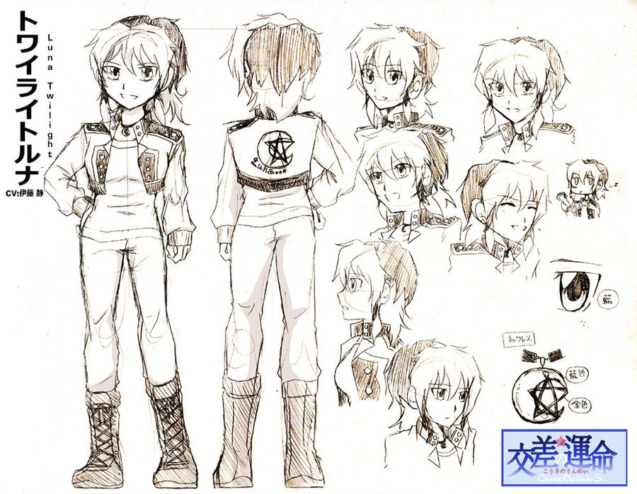 The Art Of Character Design Volume I : Character design sheet luna by crossedestinies on deviantart