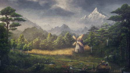Old Windmill by ReFiend