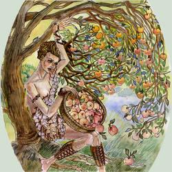New Year Calendar: Apple tree by joan789