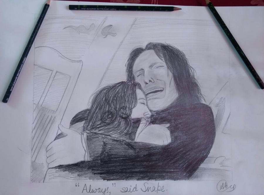 Lily and Snape by Anubhav-Balodhi
