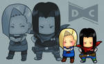 chibis android 17 18  by CIWI