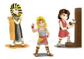 Chibi Bible Characters for children's book samples