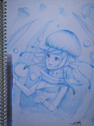 Jellyfish Witch Aoki Lapis by Crowlake