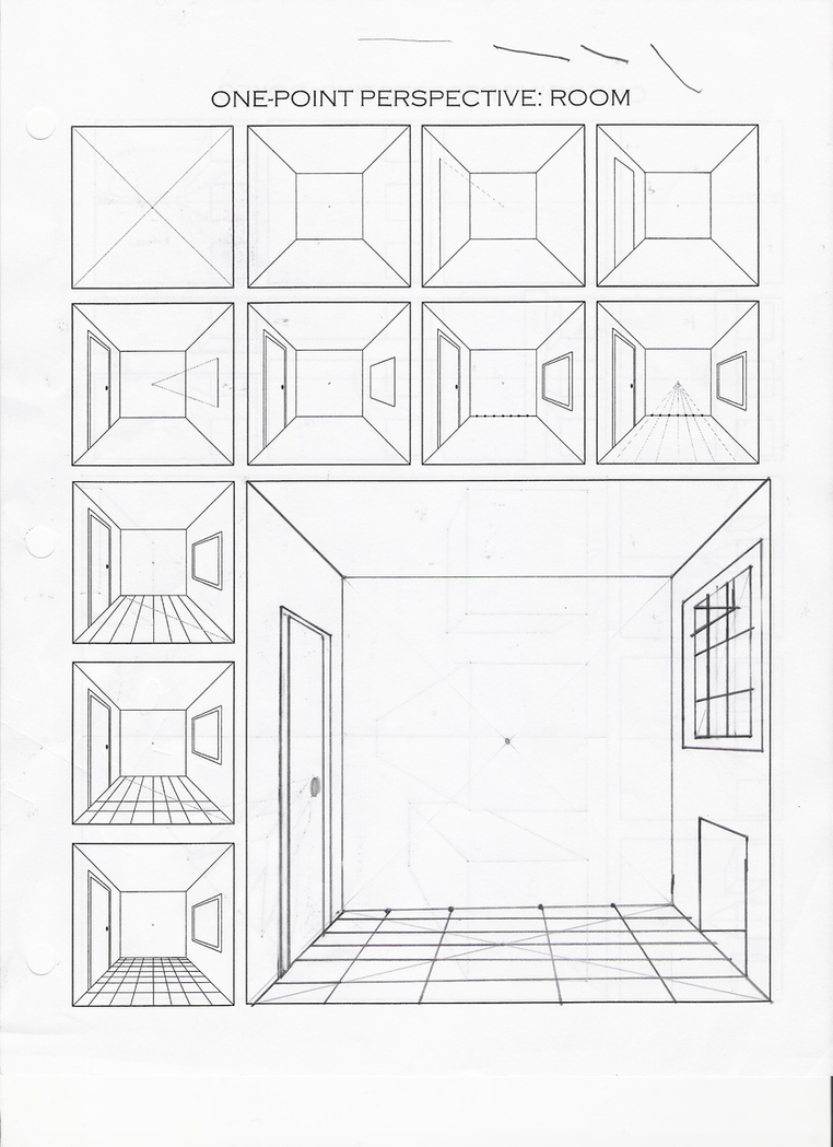 Worksheets One Point Perspective Worksheet 1 point perspective practice by fadflamer on deviantart fadflamer
