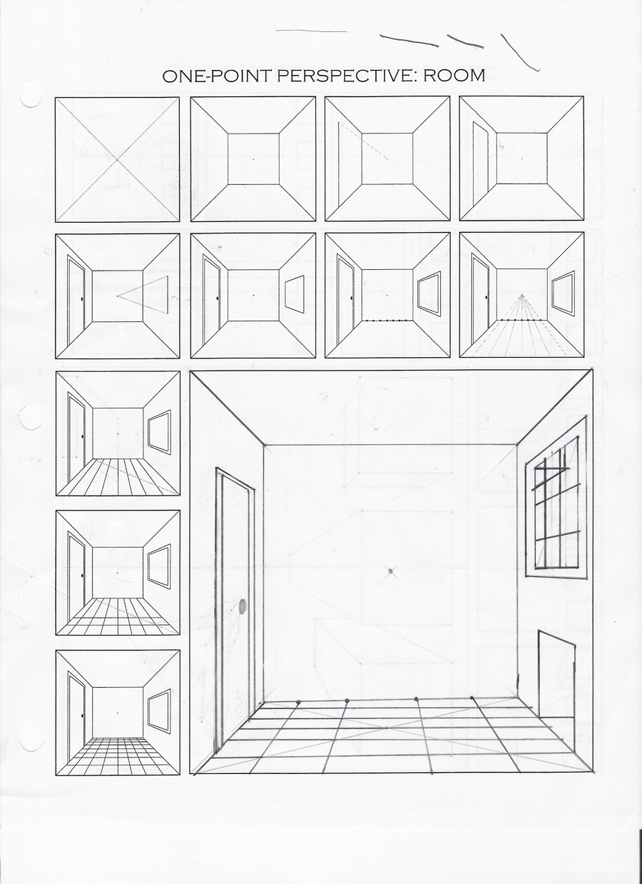 1 point perspective practice by Fadflamer on DeviantArt – One Point Perspective Worksheet