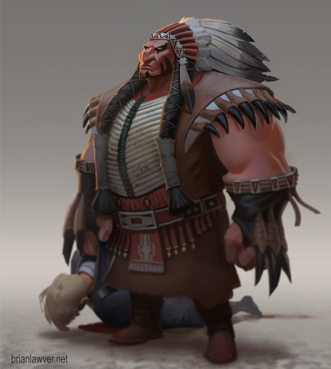 Tanka the Buffalo Chief by lawvalamp